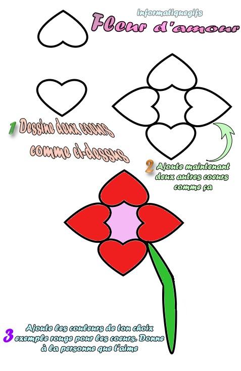 Apprendre a dessiner dessin et coloriage - Dessin fleur facile ...