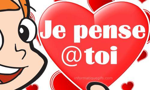 Je Pense A Toi Gif Anime De Coeur Amour