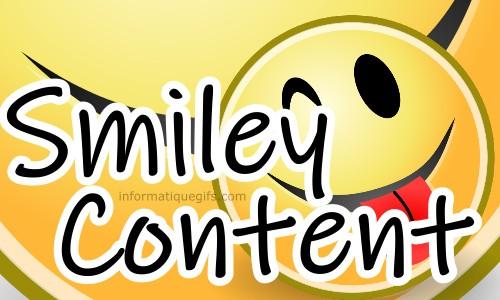 Image Smiley Content Avec Beau Sourire Emoticone Rire